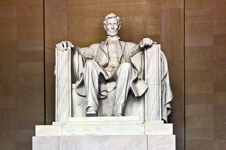 Statue of AbrahamLincoln in Memorial in Washington