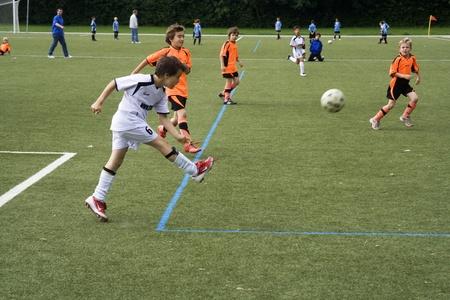 SCHWALBACH, GERMANY - JUNE 02: Football Tournament, BSC Schwalbach CUP, game Children E-Class Tournament - BSC Schwalbach against Niederjosbach , June 02,2007 in Schwalbach, Germany