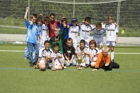 SCHWALBACH, GERMANY - JUNE 02: Football Tournament, BSC Schwalbach CUP, game Children E-Class Tournament - BSC Schwalbach, the winner , June 02,2007 in Schwalbach, Germany