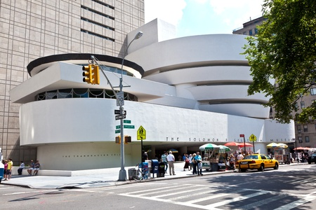 NEW YORK, USA � JULY 11: view in the afternoon to the architecture of the Guggenheim museum at 5th avenue  on July 11,2010 in New York, USA. Stock Photo - 9532339