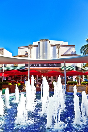 MIAMI, USA - JULY 27:  Famous Colony Art Deco Theater renovated for 6,5 MIllion US $ and open for public again on July 27, 2010 in MIami, USA. Build in 1934 in art deco style to entertain the visitors.