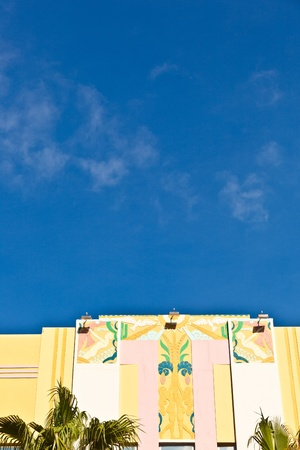 MIAMI BEACH, USA - AUGUST 02: midday view at Ocean drive on August 02,2010 in Miami Beach, Florida. Art Deco architecture in South Beach is one of the main tourist attractions in Miami.