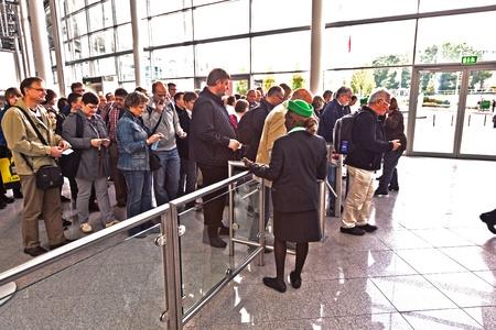 exhibition crowd: