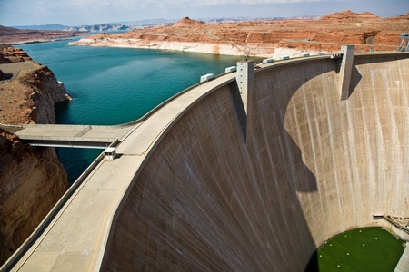 Glen Canyon Dam near Page at the colorado river Stock Photo