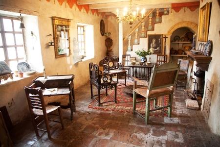 carmel: Misi�n de Carmel San Carlos Borromeo, Carmel, espacio interior, de suposiciones de california, Foto de archivo