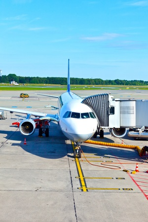 loading dock: aircraft at the gate