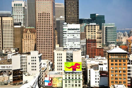 SAN FRANCISCO, USA, JULY 24: View from a skyscraper to the cityscape of San Francisco on July 24,2008 at the Central Square, San Francisco, USA. View in great afternoon light. Stock Photo - 9768101