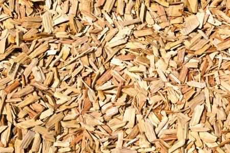 paillis: copeaux de bois sur le plancher.