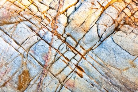 rock pile: beautiful pattern in Stone at the coast Stock Photo