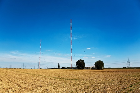 acres: Radio installation in golden acres with blue sky