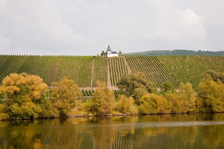 chappel: chappel at the vineyard near Trittenheim at the river Mosel