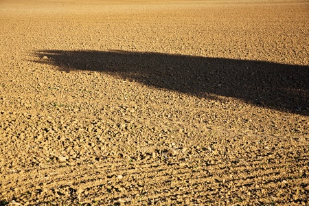 acres: fresh plowghed acres in beautiful light Stock Photo