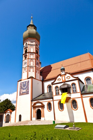 biergarten: famous cloister of Andechs with brewery in Bavaria Stock Photo