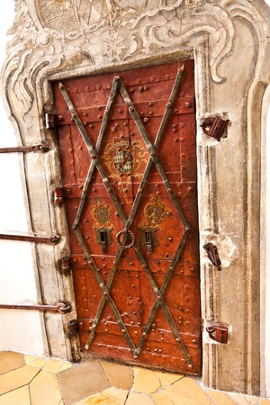 door in famous cloister of Andechs from inside Stock Photo - 10006393