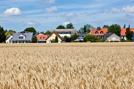 flatland: housing area in rural landscape near Munich