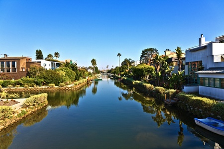 abbot: old canals of Venice, build by Abbot Kinney in California, beautiful living area Editorial