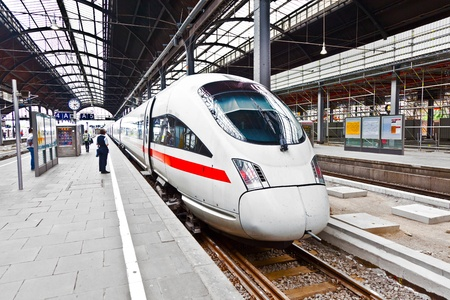 high speed train in the station Editorial
