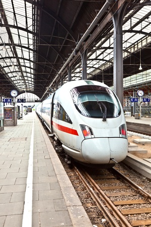 high speed train in the station