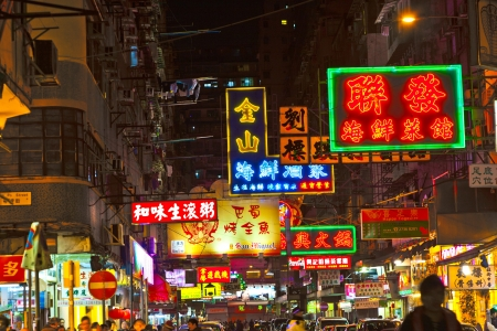 kowloon: HONG KONG, CHINA - JAN 9: Police in Hong Kong saves the area after an acid on January 9, 2010 in Hong Kong, China. Nine tourists and a seven-year-old were among those treated in hospital. Editorial