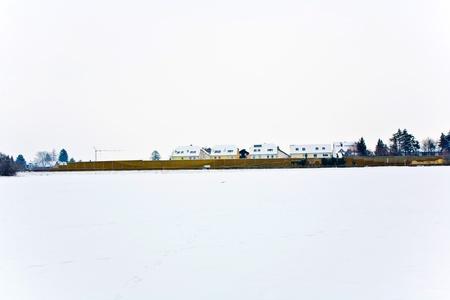 settlement in winter landscape Stock Photo - 10312102