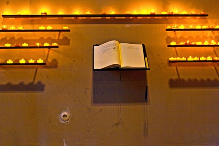 wishes are written down in the book at the chapel photo
