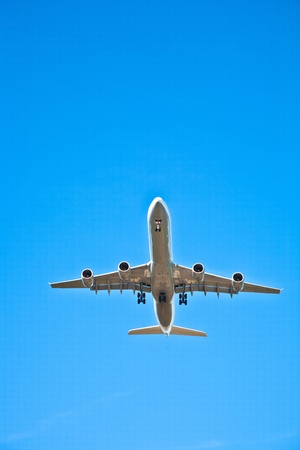 aircraft in landing approach photo