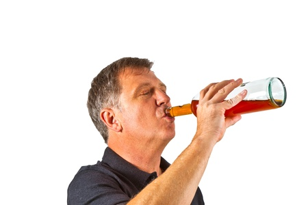 cute boy drinking water out of a glass Stock Photo - 10593164
