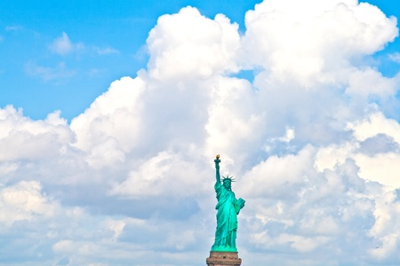 Statue of Liberty in New York City Manhattan Hudson River photo