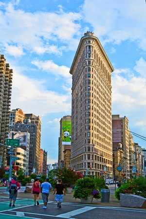 NEW YORK, USA – JULY 11: Facade of the Flatiron building late afternoon in sun on July 11,2010 in New York, USA. Stock Photo - 10666691