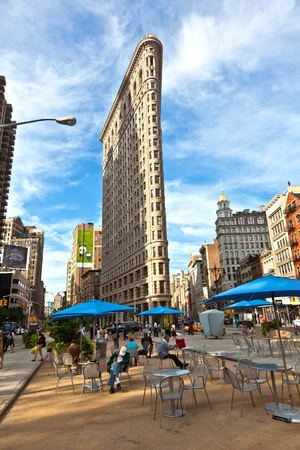 NEW YORK, USA – JULY 12: Facade of the Flatiron building in early morning in morning sun on July 12,2010 in New York, USA. Stock Photo - 10666688