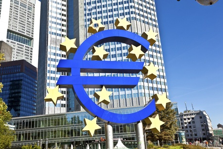 The European Central Bank (ECB) on a sunny day, Frankfurt am Main, Germany photo