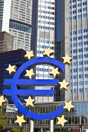 The European Central Bank (ECB) on a sunny day, Frankfurt am Main, Germany photo