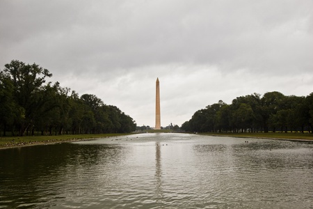 Outdoor view of Washington Monument in Washington DC in dark clouds Stock Photo - 10768765