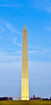 Washington Monument in the center of Washington DC photo