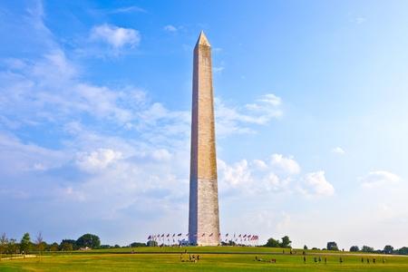 национальной достопримечательностью: Монумент Вашингтона в центре Вашингтона Фото со стока