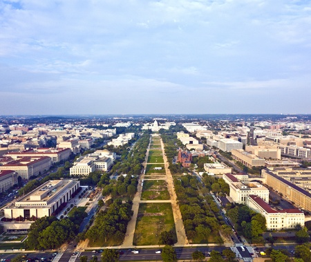 view to capitol hill over the mall photo