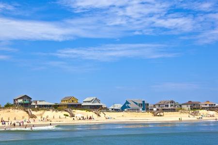 nags: playa con caba�as en Nags Head en los Outer Banks