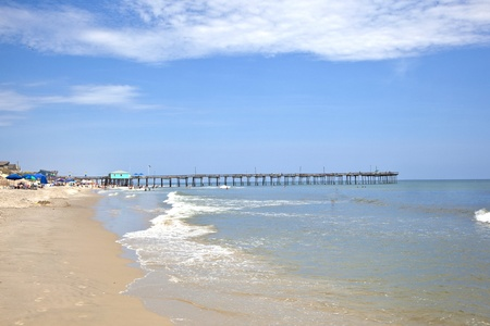 nags: famous old wooden pier in Nags Head