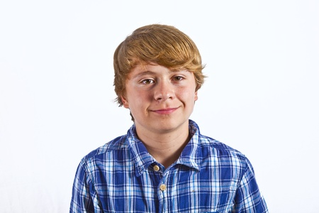 smiling smart boy in studio Stock Photo - 10799124