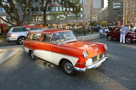 FRANKFURT, GERMANY - OCT 2:  Oldtimer Meeting on OCT 2,2011 in Frankfurt, Germany. A lot of Oldtimer will be presented by the event 7. Oldtimercity organized by CityForum and Blitz-TIP.