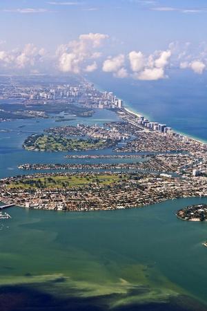 aerial of Miami beach