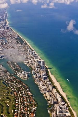 coastline: aerial of Miami beach