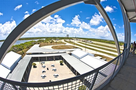 ORLANDO, USA - JULY 25: view from the observation tower to the Main essembly building at Kennedy space center on July 25, 2010 in Orlando, USA. The Center is open for public. Stock Photo - 10950304