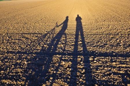 shadow of gesturing man photo