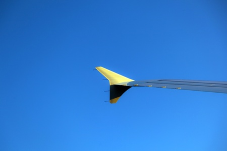 wing of aircraft in the sky Stock Photo - 11287066