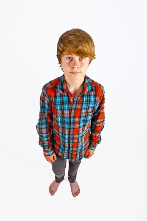 smiling cute boy in the studio Stock Photo - 11086973