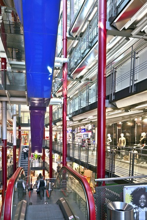 FRANKFURT, GERMANY - AUGUST 21: Inside the Zeilgalerie on August 21,2010 in Frankfurt, Germany. The Zeilgalerie opened in 1992 and was managed by Juergen Schneider who went insolvent.