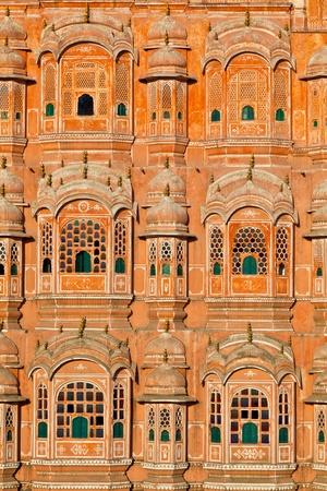 mughal: Hawa Mahal, the Palace of Winds, Jaipur, Rajasthan, India.