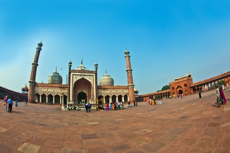 jama mashid: DELHI, INDIA - NOVEMBER 09: View of Jama Masjid on November 09,2011. It is the largest and best-known mosque in India. Editorial