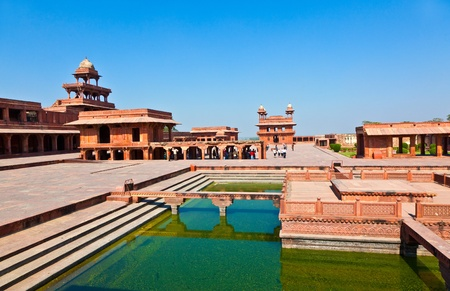 fatehpur: Fatephur Sikri, India. It is a city in Agra district in India. It was built by the great Mughal emperor, Akbar beginning in 1570.